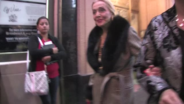 vídeos de stock e filmes b-roll de anne jeffreys at the pantages theater in hollywood on 12/1/2011 - pantages theater