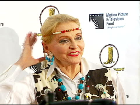 anne jeffreys at the the motion picture and television fund's 24th golden boot awards at the beverly hilton in beverly hills california on august 12... - motion picture & television fund stock videos & royalty-free footage