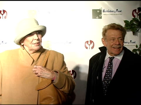 Anne Meara and Jerry Stiller at the Children's Hospital Los Angeles' Huckleberry Fund Benefit and Exhibit at Bergamot Station in Santa Monica...