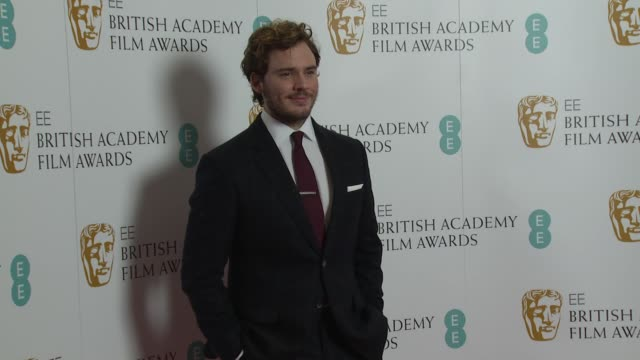 anne morrison sam claflin stephen fry at the ee bafta nomination announcement on 9th january 2014 in london england - スティーブン フライ点の映像素材/bロール