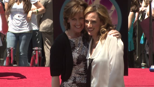 Anne Sweeney and Marlee Matlin at the Marlee Matlin Honored With A Star On The Hollywood Walk Of Fame at Hollywood CA