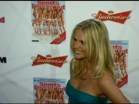 anne v at the 2006 sports illustrated swimsuit issue photocall at crobar in new york new york on february 14 2006 - sports illustrated swimsuit issue stock videos & royalty-free footage