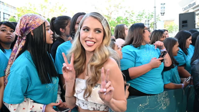 anne winters at the world premiere of warner bros the sun is also a star red carpet at pacific theaters at the grove on may 13 2019 in los angeles... - gif file format extension stock videos & royalty-free footage