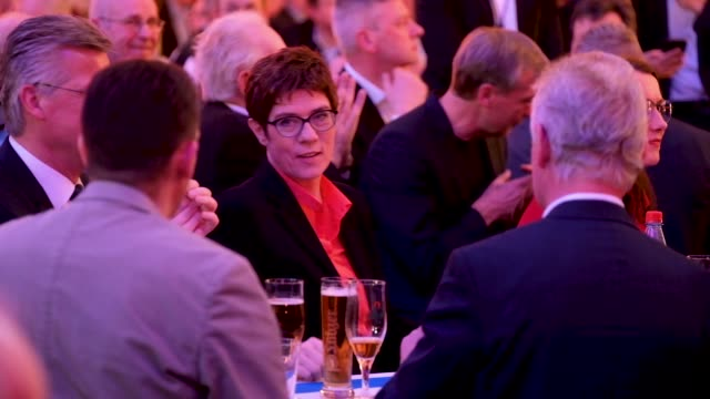 Annegret KrampKarrenbauer Chairwoman of the German Christian Democrats attends the annual CDU Ash Wednesday gathering on March 06 2019 in Demmin...