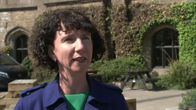 anneliese dodds visit to dewsbury; england: west yorkshire: kirklees: dewsbury: ext anneliese dodds mp interview sot. - well really the stakes are... - politics stock-videos und b-roll-filmmaterial