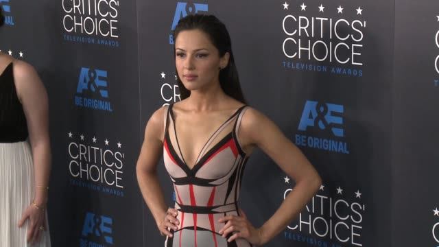 annet mahendru at the 2015 critics' choice television awards at the beverly hilton hotel on may 31, 2015 in beverly hills, california. - 放送テレビ批評家協会賞点の映像素材/bロール