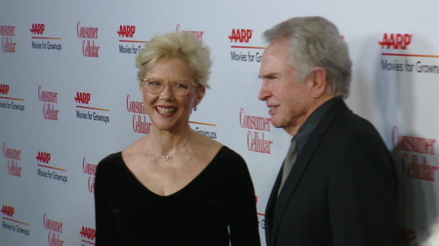 annette bening and warren beatty at aarp the magazine celebrates 19th annual movies for grownups awards at beverly wilshire a four seasons hotel on... - beverly beatty stock videos & royalty-free footage