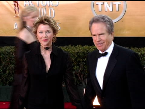 annette bening and warren beatty at the 2005 screen actors guild sag awards arrivals at the shrine auditorium in los angeles california on february 5... - annette bening stock videos & royalty-free footage