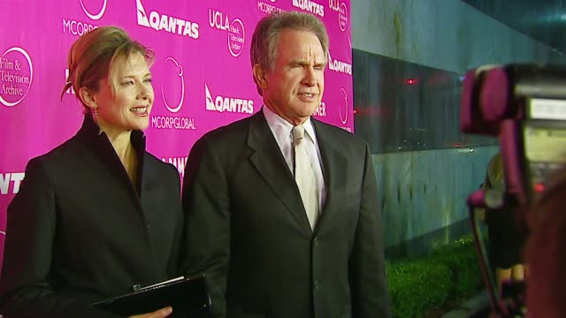 annette bening and warren beatty at the billy wilder theater opening at the hammer museum in westwood, california on december 3, 2006. - warren beatty stock videos & royalty-free footage