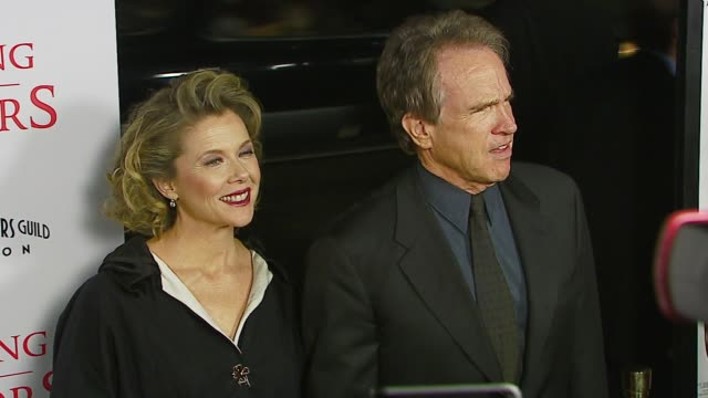 annette bening and warren beatty at the tristar pictures presents 'running with scissors' los angeles premiere at academy of motion picture arts &... - academy of motion picture arts and sciences video stock e b–roll
