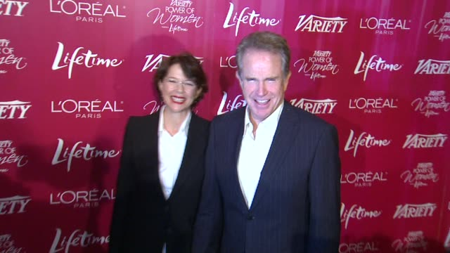 annette bening and warren beatty at the variety's 3rd annual 'power of women' luncheon at beverly hills ca - beverly beatty stock videos & royalty-free footage