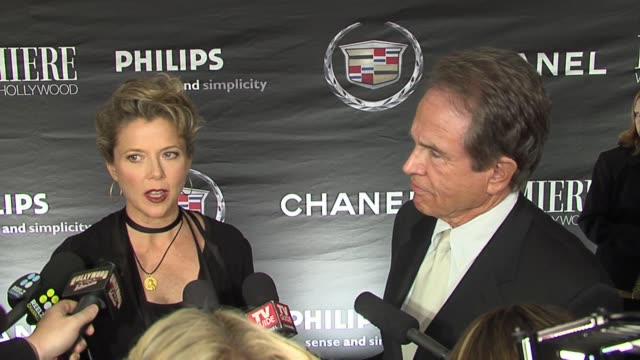 annette bening and warren beatty on her most recent project running with scissors at the 13th annual premiere women in hollywood at the beverly... - beverly beatty stock videos & royalty-free footage