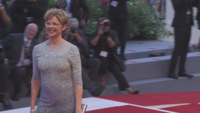 annette bening at closing ceremony red carpet 74th venice international film festival at palazzo del cinema on september 09 2017 in venice italy - annette bening stock videos & royalty-free footage