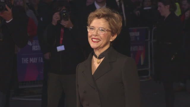 annette bening at 'film stars don't die in liverpool' european premiere 61st bfi london film festival at odeon leicester square on october 11 2017 in... - annette bening stock videos & royalty-free footage