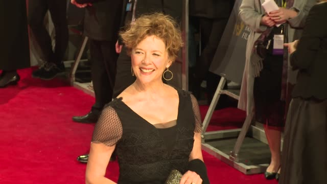 annette bening at royal albert hall on february 18 2018 in london england - annette bening stock videos & royalty-free footage