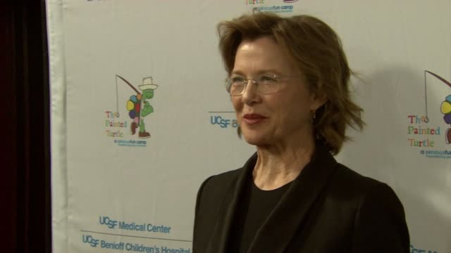 annette bening at stars come out for the ucsf medical center and the painted turtle's starry evening of music comedy surprises on march 10 2014 in... - annette bening stock videos & royalty-free footage