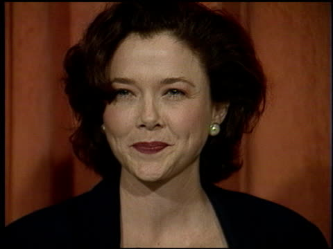 annette bening at the 1991 academy awards luncheon at the beverly hilton in beverly hills california on march 19 1991 - annette bening stock videos & royalty-free footage