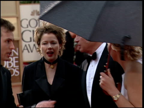 annette bening at the 2000 golden globe awards at the beverly hilton in beverly hills california on january 23 2000 - annette bening stock videos & royalty-free footage