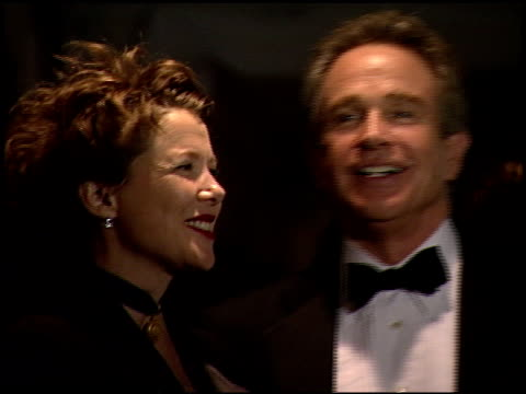 annette bening at the 2000 golden globes dreamworks party at the beverly hilton in beverly hills, california on january 23, 2000. - annette bening stock videos & royalty-free footage