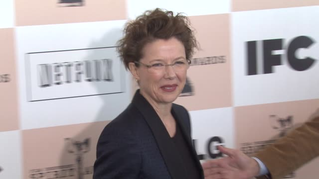 annette bening at the 2011 independent spirit awards arrivals at santa monica ca - annette bening stock videos & royalty-free footage