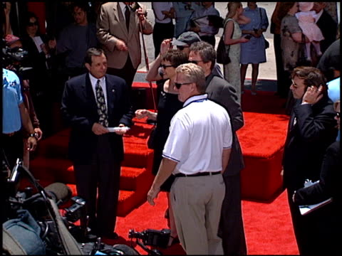 annette bening at the dedication of warren beatty's footprints at grauman's chinese theatre in hollywood california on may 21 1998 - annette bening stock videos & royalty-free footage