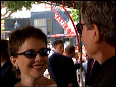 annette bening at the dedication of warren beatty's footprints at grauman's chinese theatre in hollywood, california on may 21, 1998. - annette bening stock videos & royalty-free footage