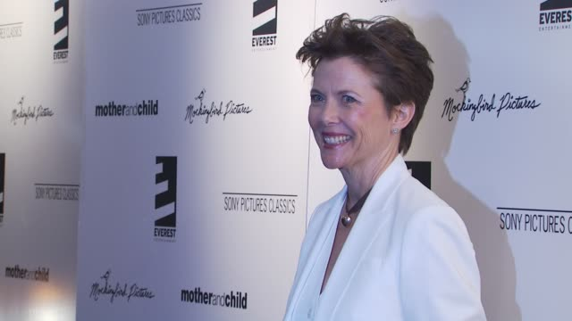 annette bening at the 'mother and child' new york premiere at new york ny - annette bening stock videos & royalty-free footage