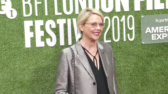 annette bening at 'the report' european premiere 63rd bfi london film festival on october 05 2019 in london england - annette bening stock videos & royalty-free footage