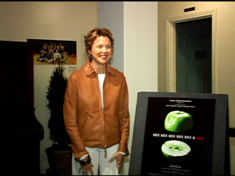 annette bening at the sex sex sex sex sex and sex premiere at the matrix theatre in los angeles california on june 2 2005 - annette bening stock videos & royalty-free footage