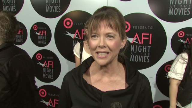 annette bening at the target presents afi night at the movies at los angeles ca. - annette bening stock videos & royalty-free footage