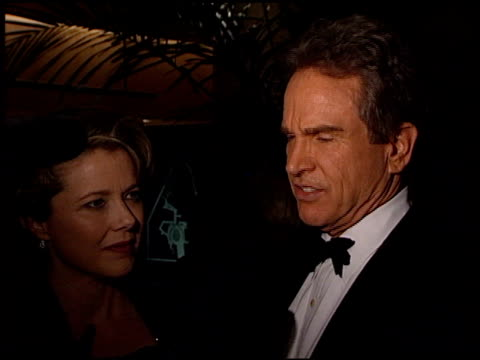 annette bening at the wga awards at the beverly hilton in beverly hills, california on february 20, 1999. - annette bening stock videos & royalty-free footage