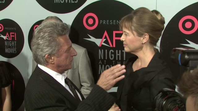 annette bening, dustin hoffman at the target presents afi night at the movies at los angeles ca. - annette bening stock videos & royalty-free footage