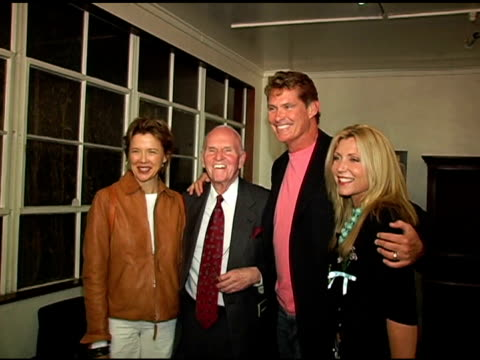 annette bening, george furth, david hasselhoff and wife pamela bach hasselhoff at the sex, sex , sex, sex, sex and sex premiere at the matrix theatre... - pamela bach stock videos & royalty-free footage
