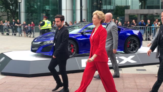 Annette Bening greets fans before entering the red carpet Celebrities attending this year 2018 TIFF The Toronto International Film Festival is one of...