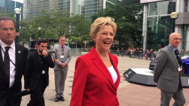 annette bening greets fans before entering the red carpet celebrities attending this year 2018 tiff the toronto international film festival is one of... - annette bening stock videos & royalty-free footage