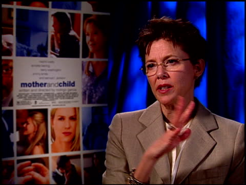annette bening on director rodrigo garcia and the characters that he writes. at the 'mother and child' junket at los angeles ca. - annette bening stock videos & royalty-free footage