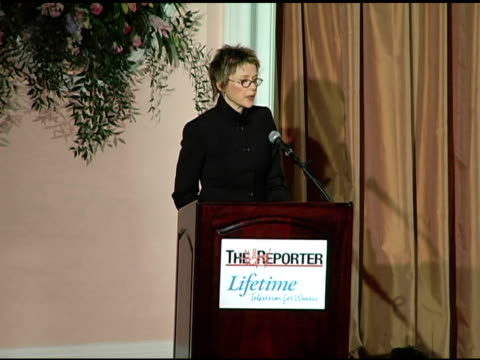 annette bening on her acting and reads a poem 'the waking' at the hollywood reporter's annual women in entertainment power 100 breakfast at the... - annette bening stock videos & royalty-free footage