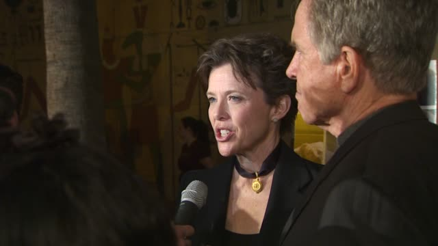 annette bening on her role at the 'mother & child' premiere at hollywood ca. - annette bening stock videos & royalty-free footage
