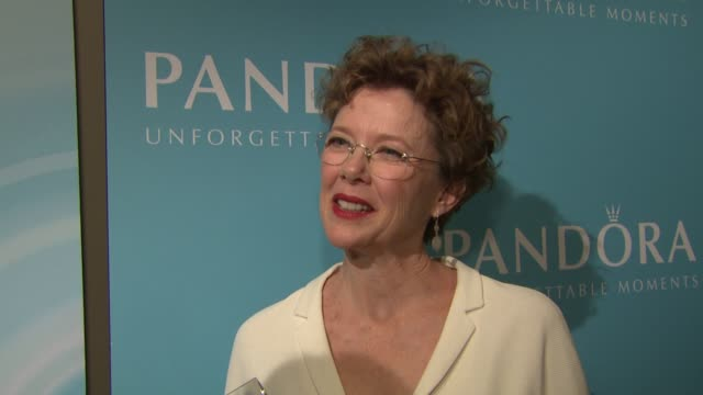 annette bening on how it feels to receive this women in film award who are some of the women that inspire her and what individuality means to her... - annette bening stock videos & royalty-free footage