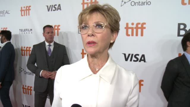 interview annette bening on why this has been a character she's wanted to play for 20 years and talks about filming with the cast at the film stars... - annette bening stock videos & royalty-free footage