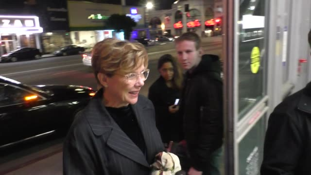 annette bening signs for fans at landmark theater in los angeles in celebrity sightings in los angeles, - landmark theatres stock videos & royalty-free footage