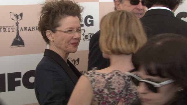 annette bening sunrise ruffalo at the piaget at the 2011 independent spirit awards at santa monica ca - annette bening stock videos & royalty-free footage