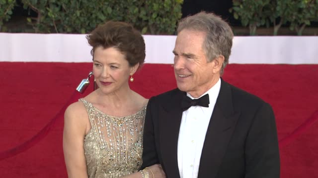 annette bening warren beatty at the 17th annual screen actors guild awards arrivals part 2 at los angeles ca - annette bening stock videos & royalty-free footage