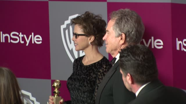 annette bening warren beatty at the 2011 instyle/warner brothers golden globe awards party at beverly hills ca - beverly beatty stock videos & royalty-free footage