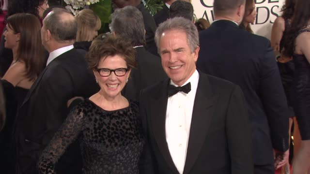 annette bening warren beatty at the 68th annual golden globe awards arrivals part 2 at beverly hills ca - beverly beatty stock videos & royalty-free footage