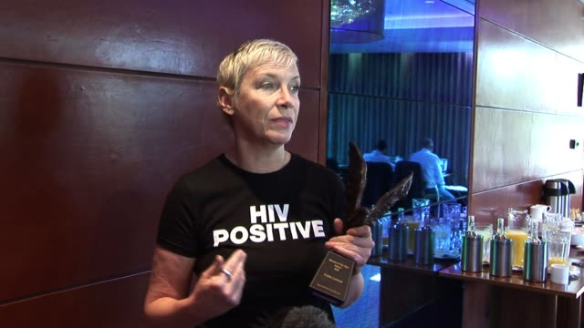 Annie discuses winning the award and what it means to her Women Of The Year Annie Lennox at Intercontinental Hotel on October 11 2010 in London