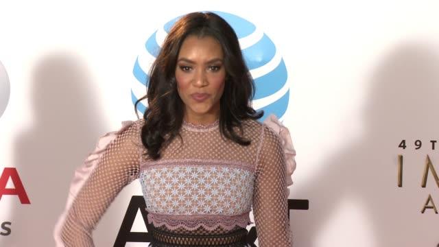 Annie Ilonzeh at the 49th NAACP Image Awards at Pasadena Civic Auditorium on January 15 2018 in Pasadena California