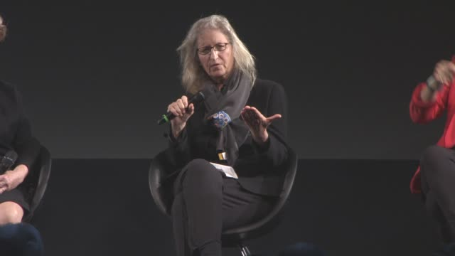 INTERVIEW Annie Leibovitz on how she gains her subject's trust how she works in the studio at 2016 Pirelli Calendar Press Conference at Grosvenor...