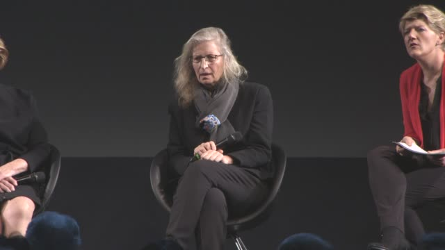 INTERVIEW Annie Leibovitz on the images being released online what it means to her at 2016 Pirelli Calendar Press Conference at Grosvenor House on...