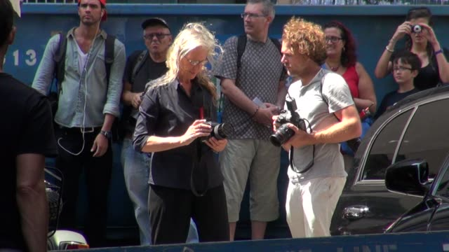 Annie Leibovitz on the set of her photo shoot in New York 07/30/12
